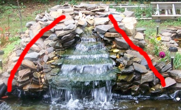 Creating a waterfall for Building a fountain pond
